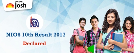 NIOS 10th Result 2017: National Institute of Open Schooling Class 10th Secondary Board Result 2017 Declared, Get your grades on www.nios.ac.in