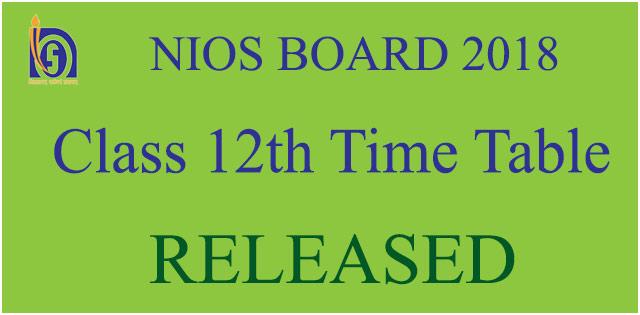 NIOS time table