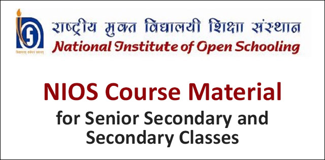 NIOS Course material for class 10th to 12