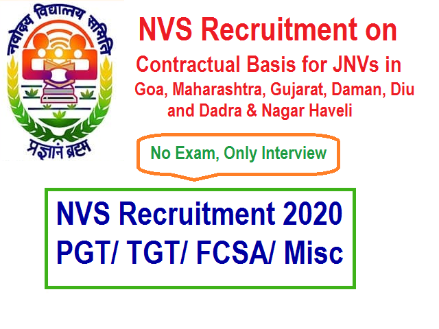 NVS Recruitment 2020-21