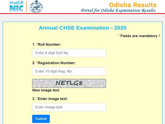 CHSE Odisha +2 Results 2020