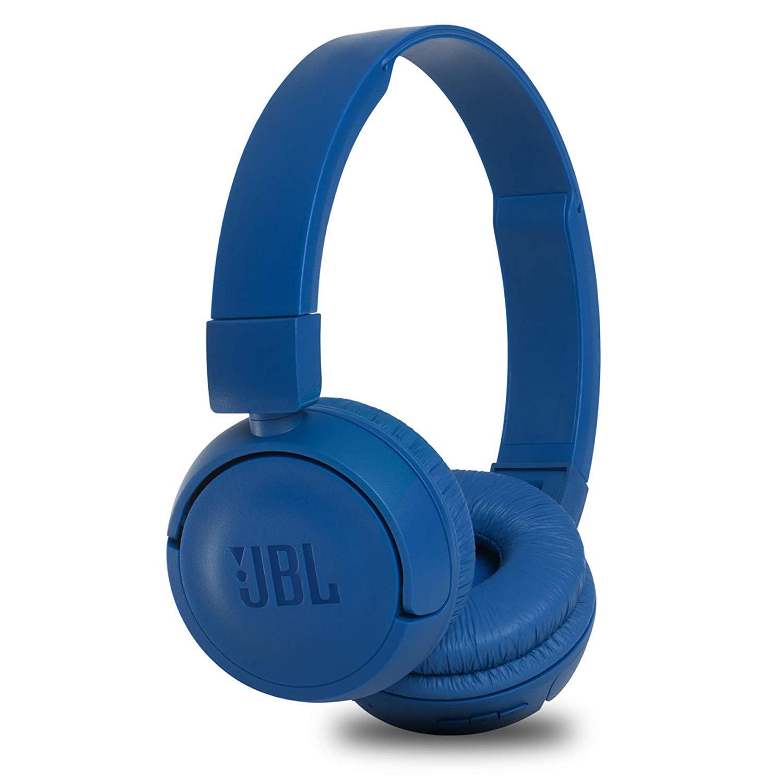 Blue on ear headphoness