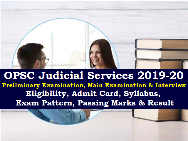 OPSC Judicial Services 2019-20