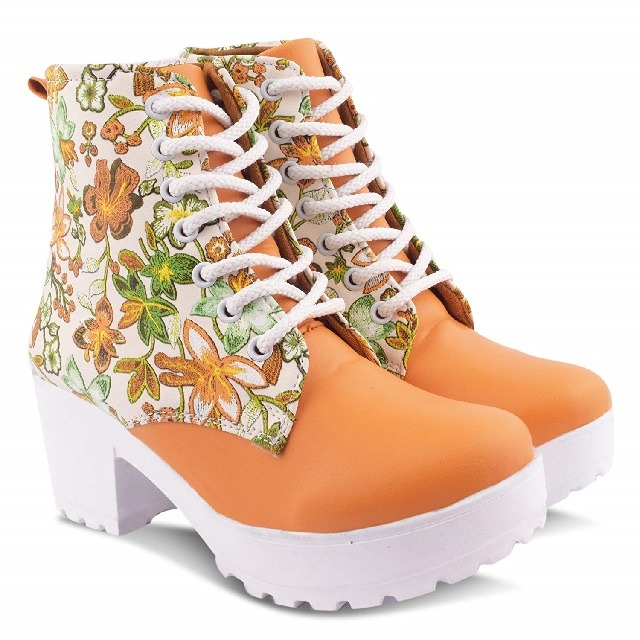 Orange Winter Boots