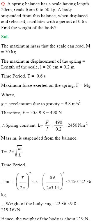NCERT Solutions for Class 11 Physics Chapter Oscillations