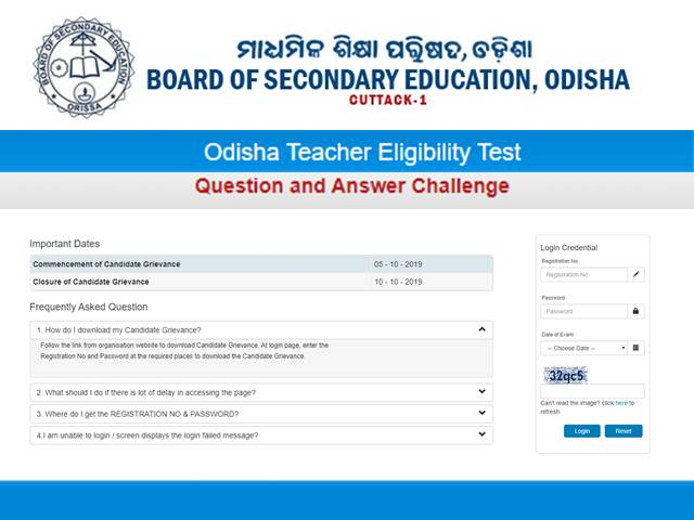 OTET Answer Key 2019 Released