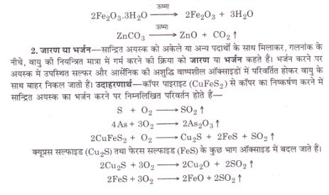 some example for chemical process