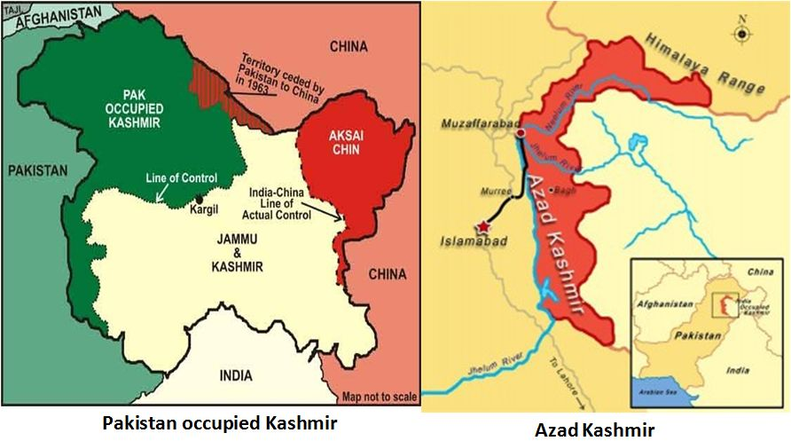 pakistan occupied kashmir map