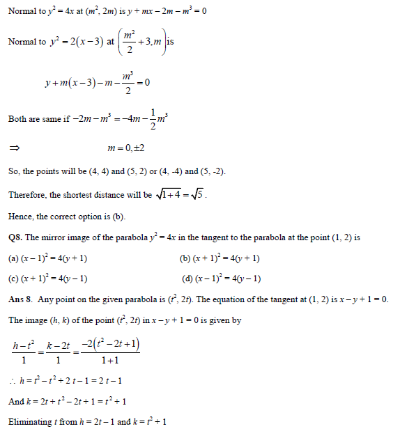 Parabola practice question