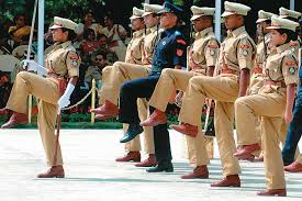 Parade during ips training