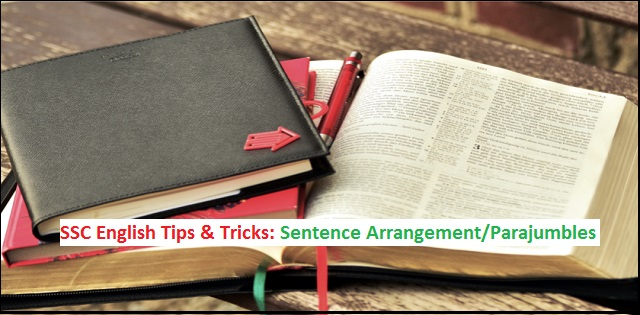 SSC English Tips & Tricks: Sentence Arrangement