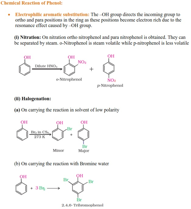 Chemical properties of Phenol