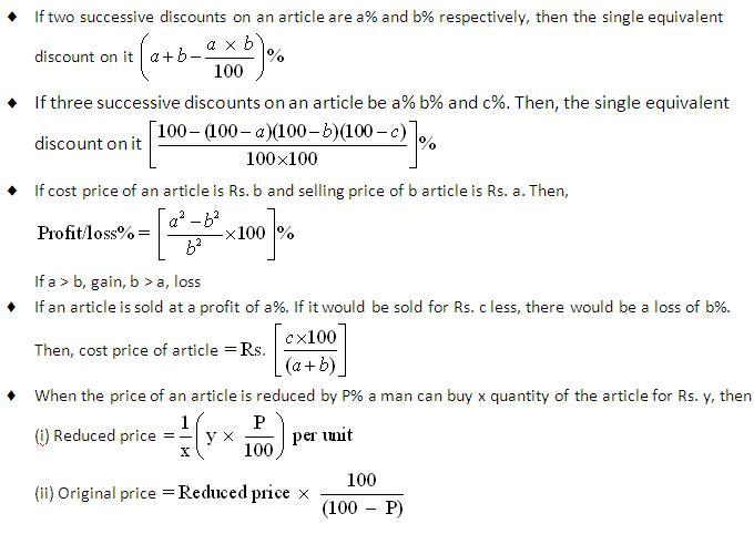 Quantitative aptitude profit loss and discount list of formulas if you have any questionpoint on the above information please askdiscuss it in the banking group fandeluxe Gallery