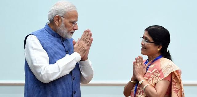 Sutapa Das with PM Modi