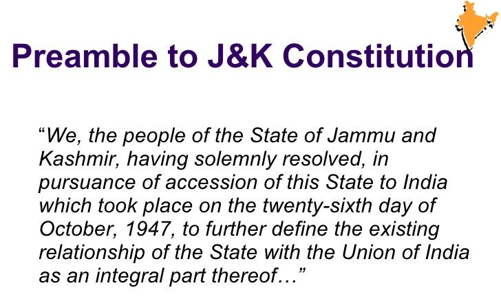 preamble of kashmir constitution