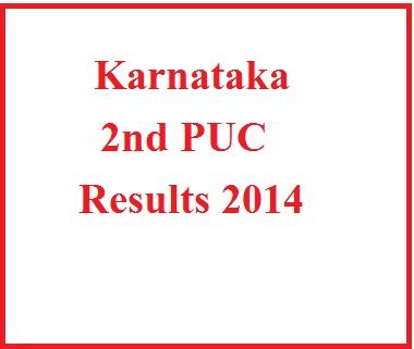 2nd PUC Results 2014 Karnataka Board
