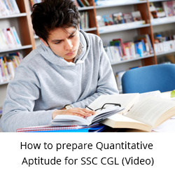 Quantitative Aptitude Video for SSC CGL