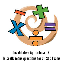 Quantitative Aptitude set-3: Miscellaneous questions