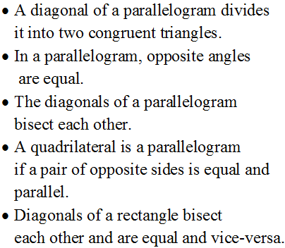 quadrilateral important questions, class 9 maths important questions