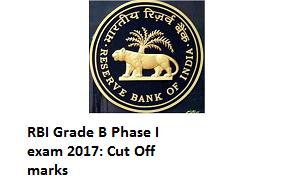 RBI Grade B phase I cut off