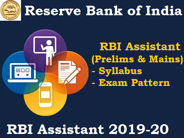RBI Assistant Syllabus 2019-20