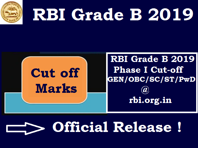 RBI Grade B Mark Sheet & Cut off 2019