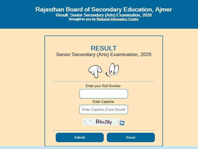 RBSE 12th Arts Result 2020 Today