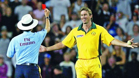 red card in cricket