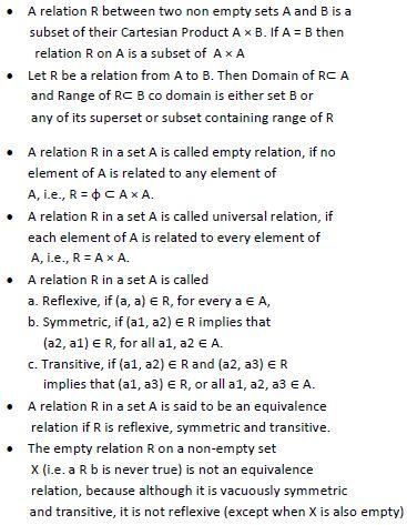 Relation, Function, IIT JEE, UPSEE