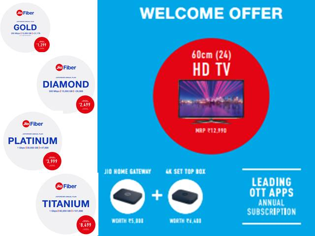 Reliance Jio Free TV Offer: Know Jio Fiber Plans that offer