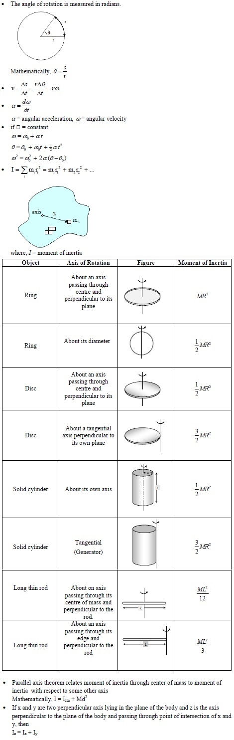 WBJEE rotational motion