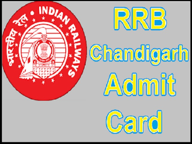 RRB Chandigarh Admit Card 2019