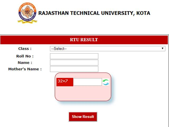 RTU Result 2019 Declared for B Tech 6th Sem students, Check online