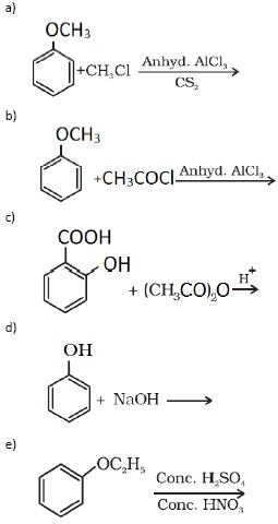 Introduction to Alcohols, Phenols and Ethers, Class 12 Chemistry Sample Papers