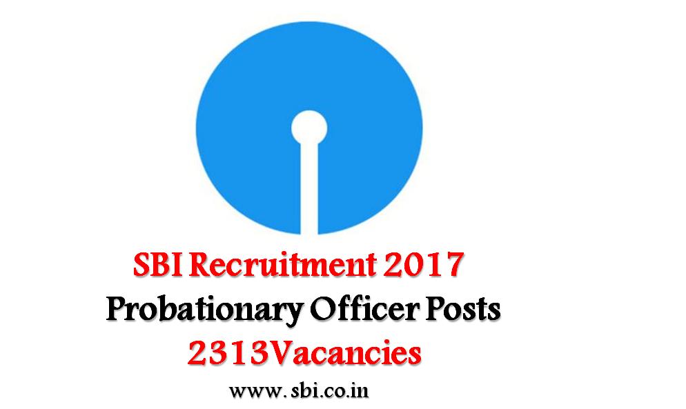 SBI PO 2017 Recruitment