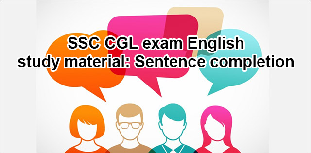 ssc cgl sentence completion