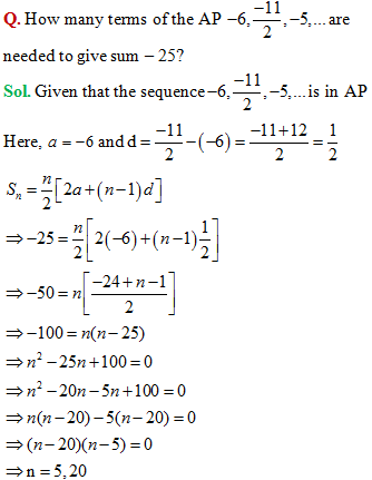 class 11 sequences and series