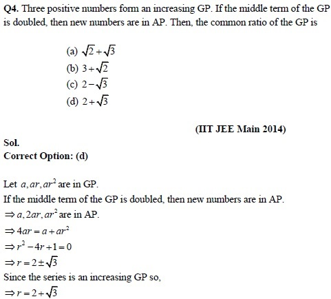 Revision notes & Solved Questions of Sequences and Series