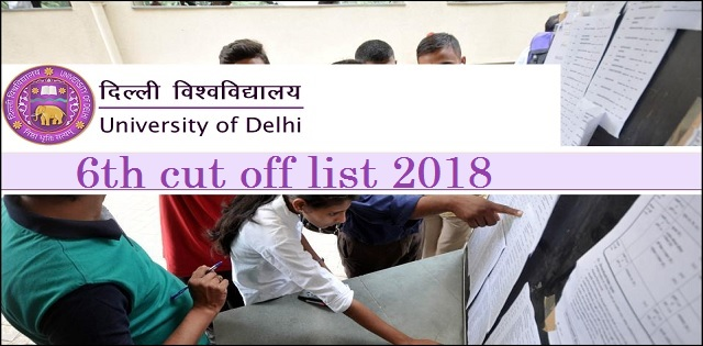 DU 6th Cut off List 2018