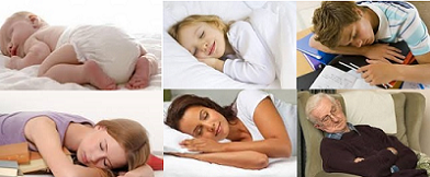 sleeping hours for different age group