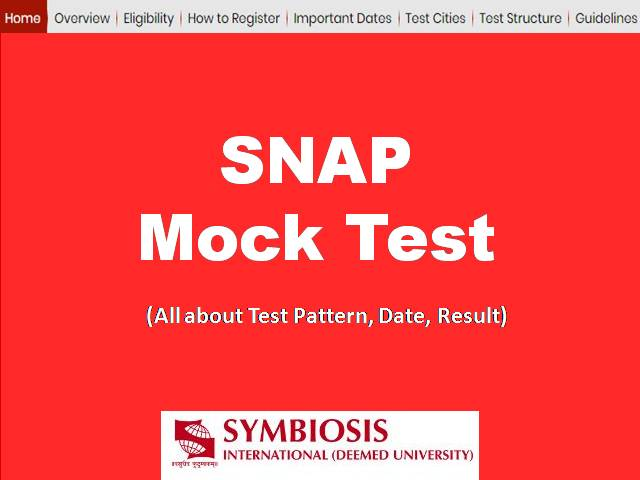 SNAP 2019 Mock Test