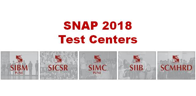 SNAP 2018: List of Test Centers