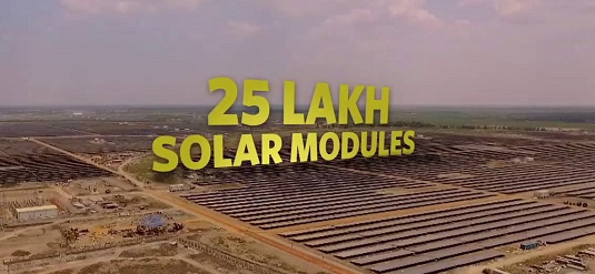 solar panal number kamuthi plant