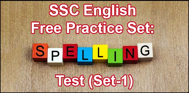 SSC english pratice set