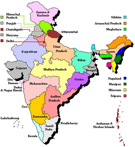 india states union territories and their capitals images