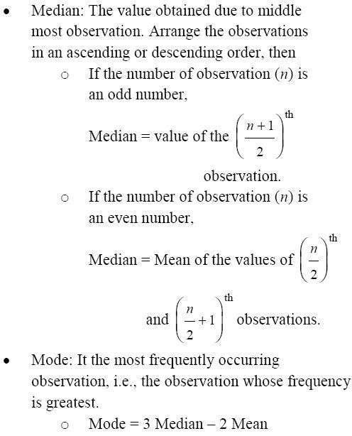 CBSE Class 9 Mathematics, chapter-14: Important topics and