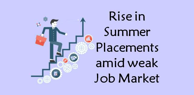 Summer Placements of top B-schools on the rise amid weak job market