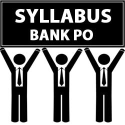 Syllabus forBank PO Exam