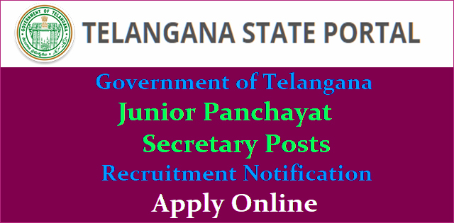 Telangana Jr Panchayat Secretary Recruitment 2018