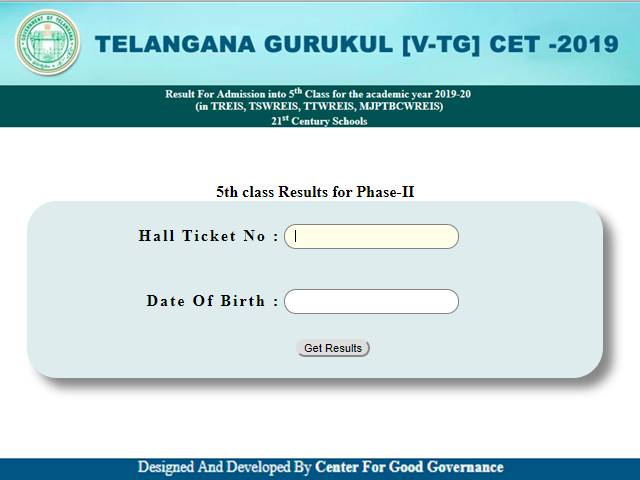 TGCET Gurukulam 5th Class Results 2019 Declared For Phase-2